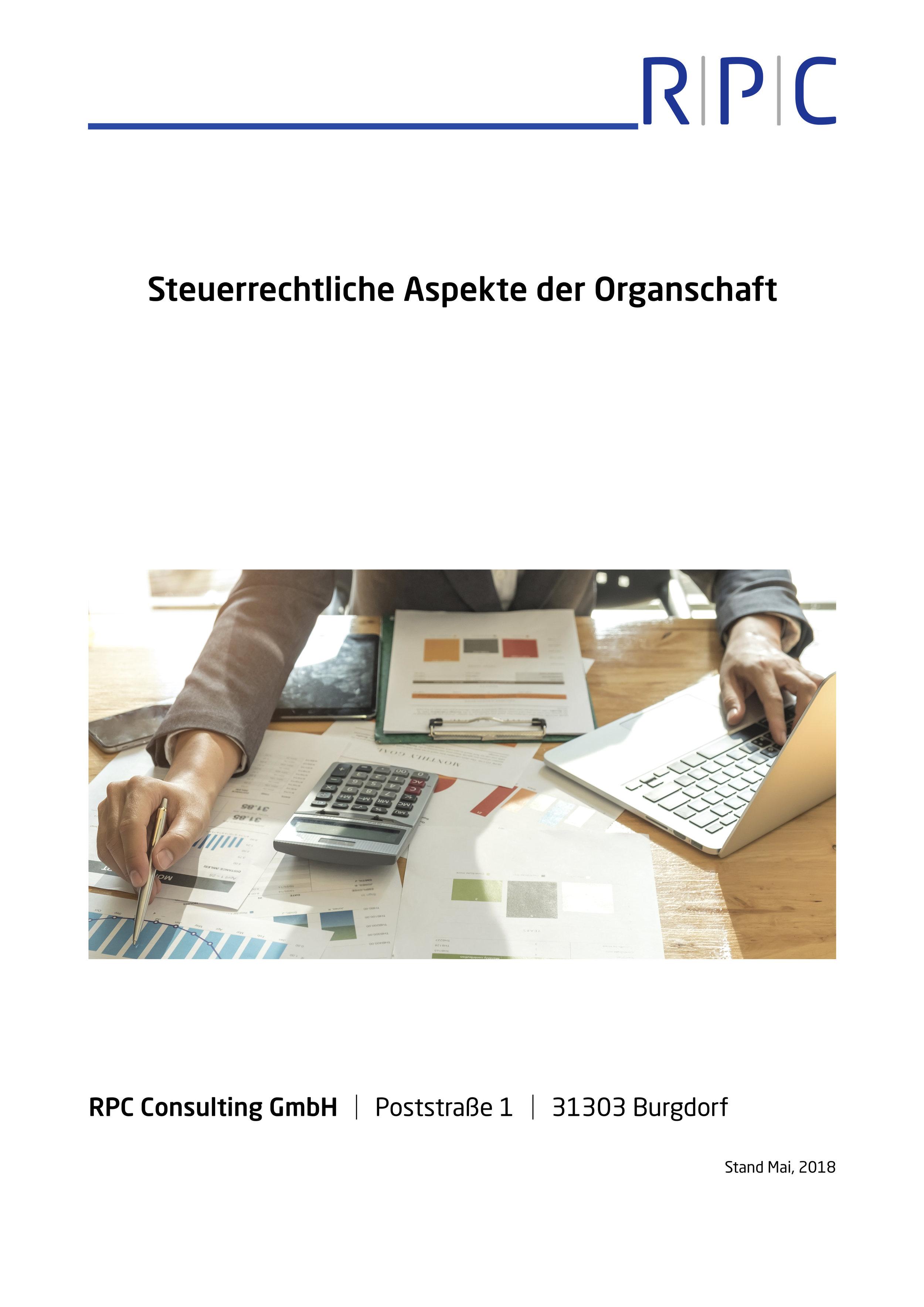 Organschaft - Steuerrechtliche Aspekte der Organschaft