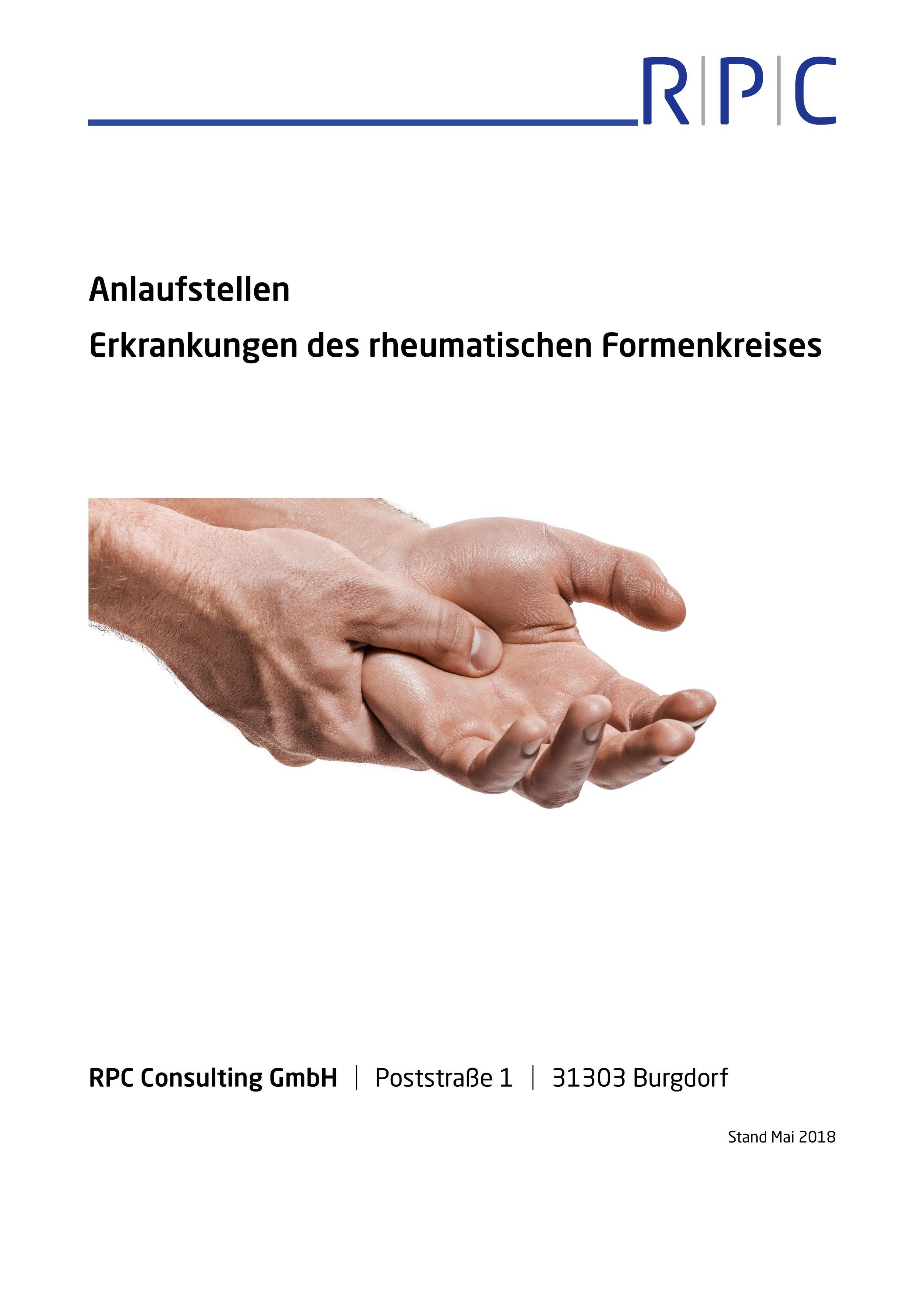 Rheuma - Anlaufstellen Erkrankungen des rheumatischen Formenkreises