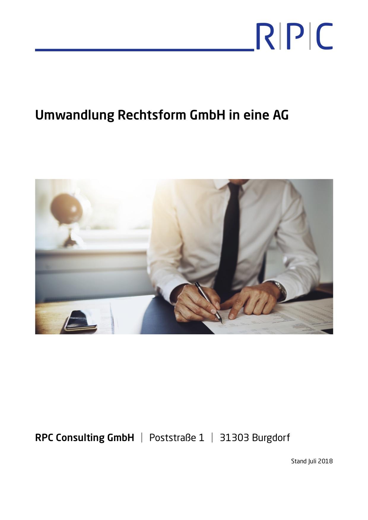 Umwandlungsgesetz (UmwG) - Umwandlung Rechtsform GmbH in AG