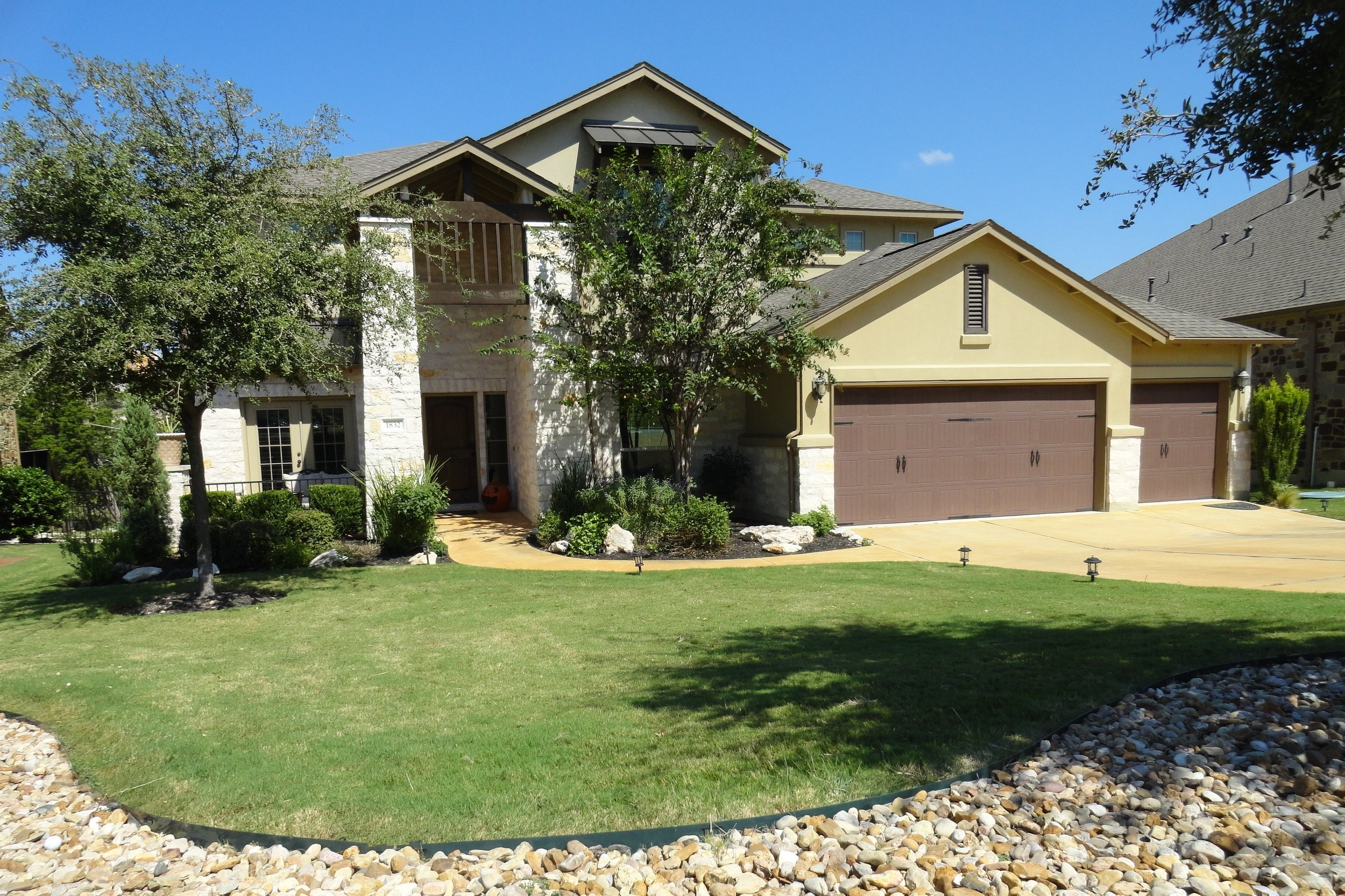 COMING SOON! 1832 Harvest Dance Dr. - Crystal Falls in Leander  Stunning home with just about every available builder option. Lovely view of the Crystal Falls Golf Course and hill country. Flat, useable back yard. Upper and lower covered porches. Built-in grill, sink, refrigerator on lower patio. Game room. Media room. Study. Wood floors. Professional-level gas cooktop. 3746 sqft, built in 2011.   Seller is putting final touches on the home in preparation for showing. Should be ready for viewing by August 21. Will be listed at $560.000.