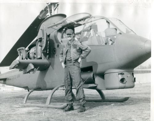 CW4 Jimmy Carpenter, Cobra Attack helicopter gunship pilot, in Vietnam, 1970