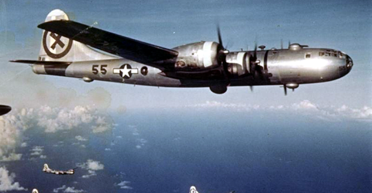 B-29 Superfortress bomber, World War II, Pacific theatre