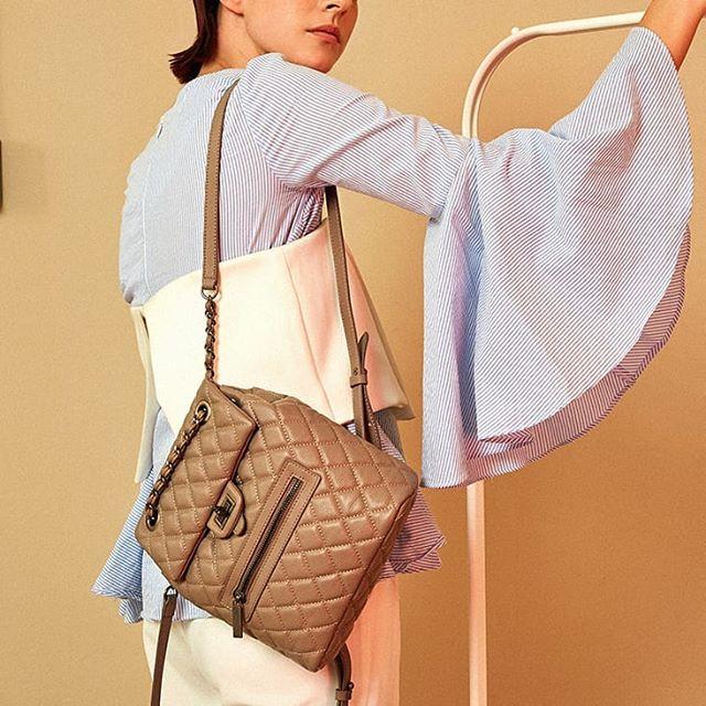Back at it . . . #minibackpack #backpack #leatherbackpack #streetstyle #minimaliststyle #bestfashion #trendybackpack #fashiontrends #quiltedbackpack #designerbackpack #designerinspired