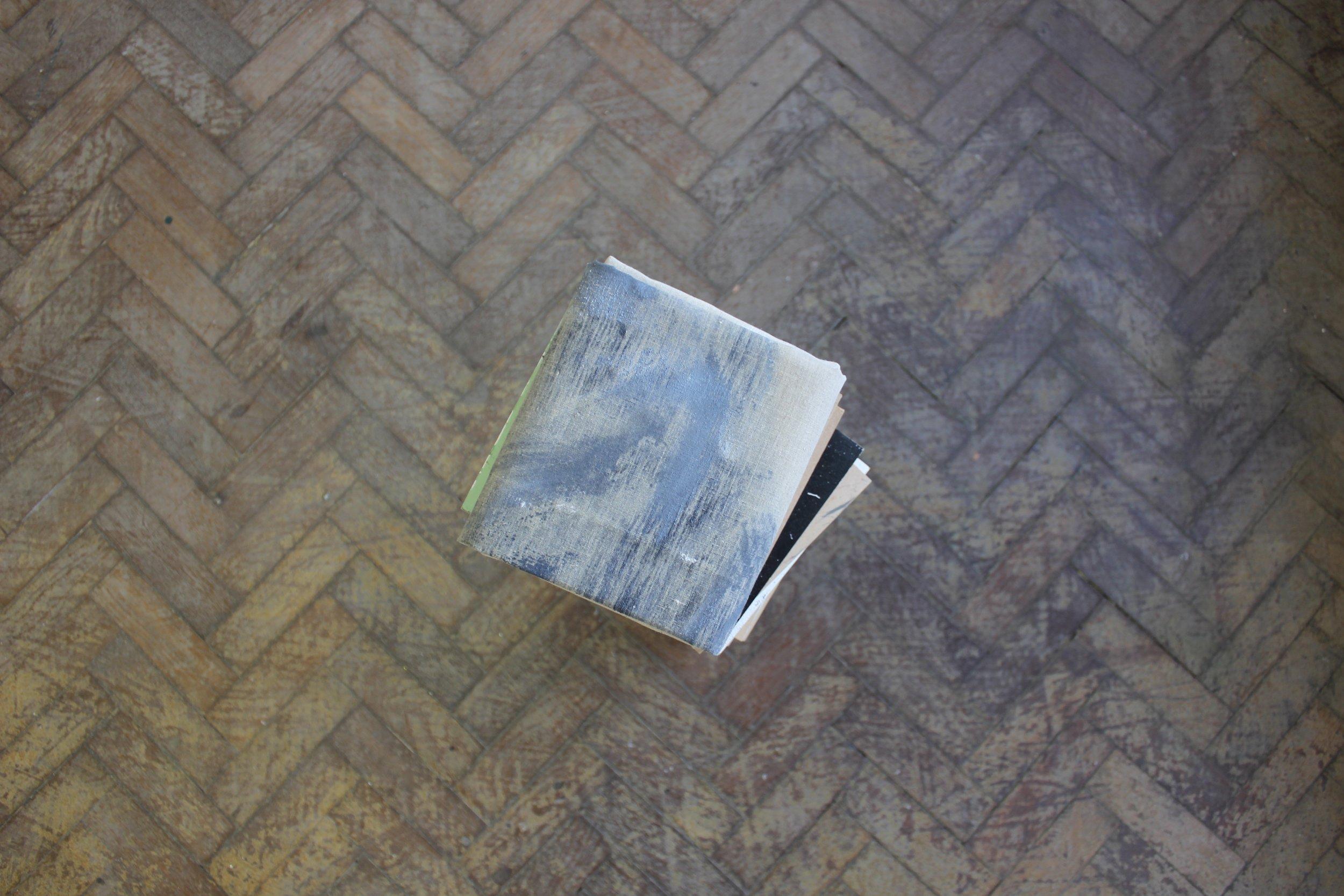 """""""Untitled"""" 2017 - Wood, Castor Wheels & Oil on Linen"""