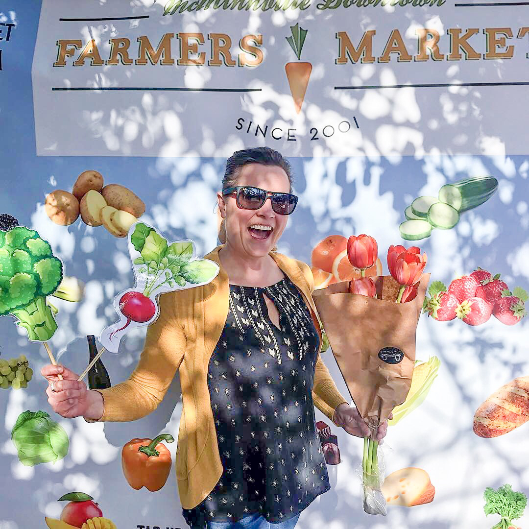 Check out our new photo booth! - Tag @mcminnvillefarmersmarket on Instagram or McMinnville Farmers Market on Thursday on Facebook for a like from us and we will put you on our story! Help spread the word about shopping local and supporting farmers!