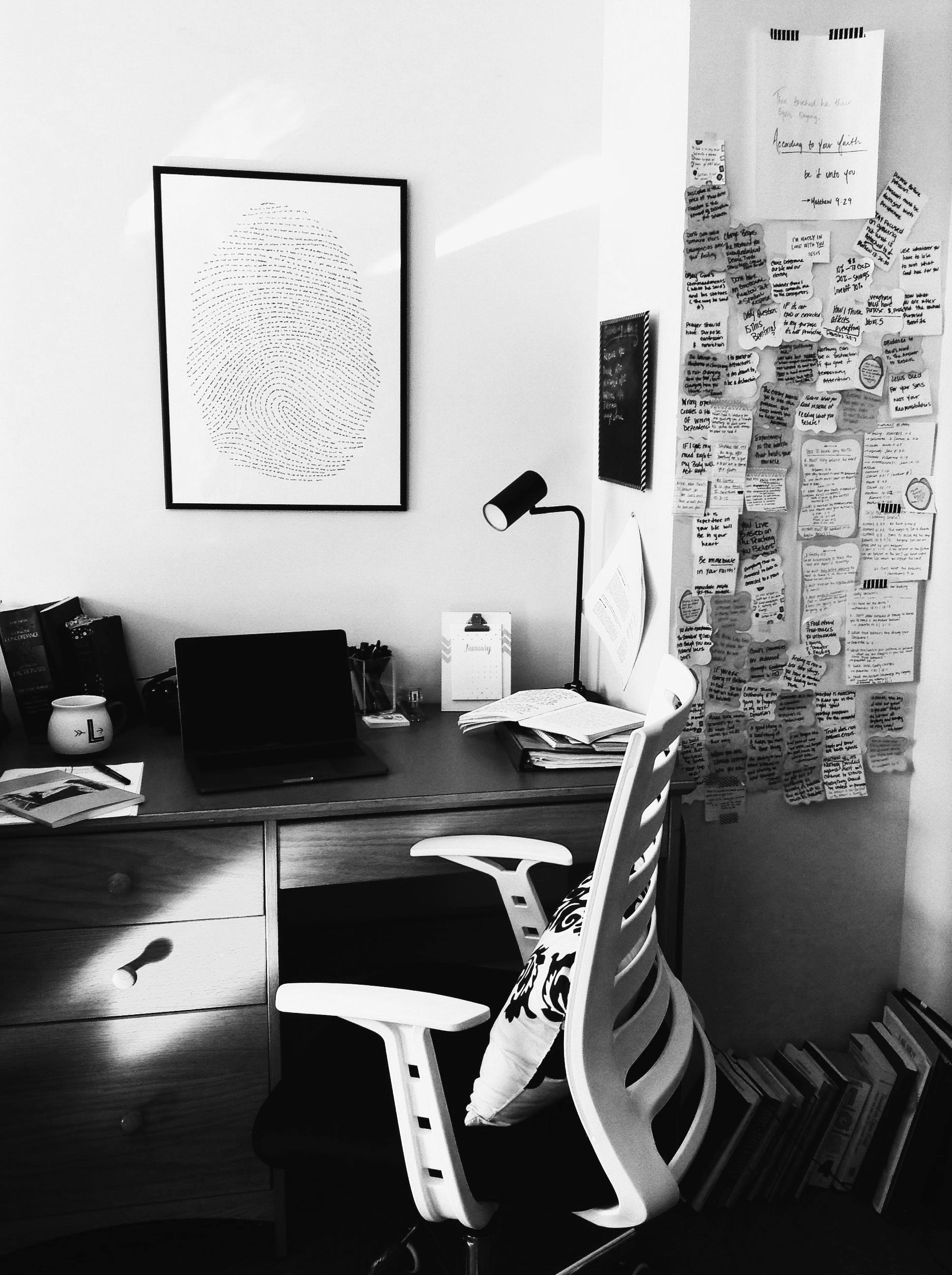 my office during graduate school -2017