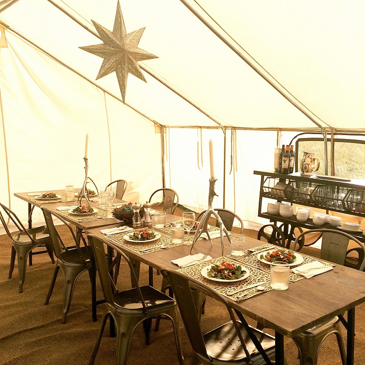 Terra Glamping dining tent