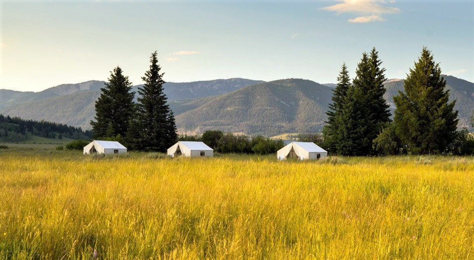 Terra Glamping in Montana near Yellowstone National Park
