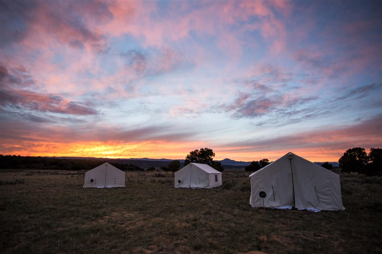 Terra Glamping Wedding- Camp at Sunset
