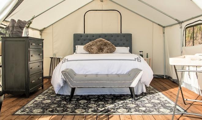 Terra Glamping Tent Interior (Kristen Kellogg)