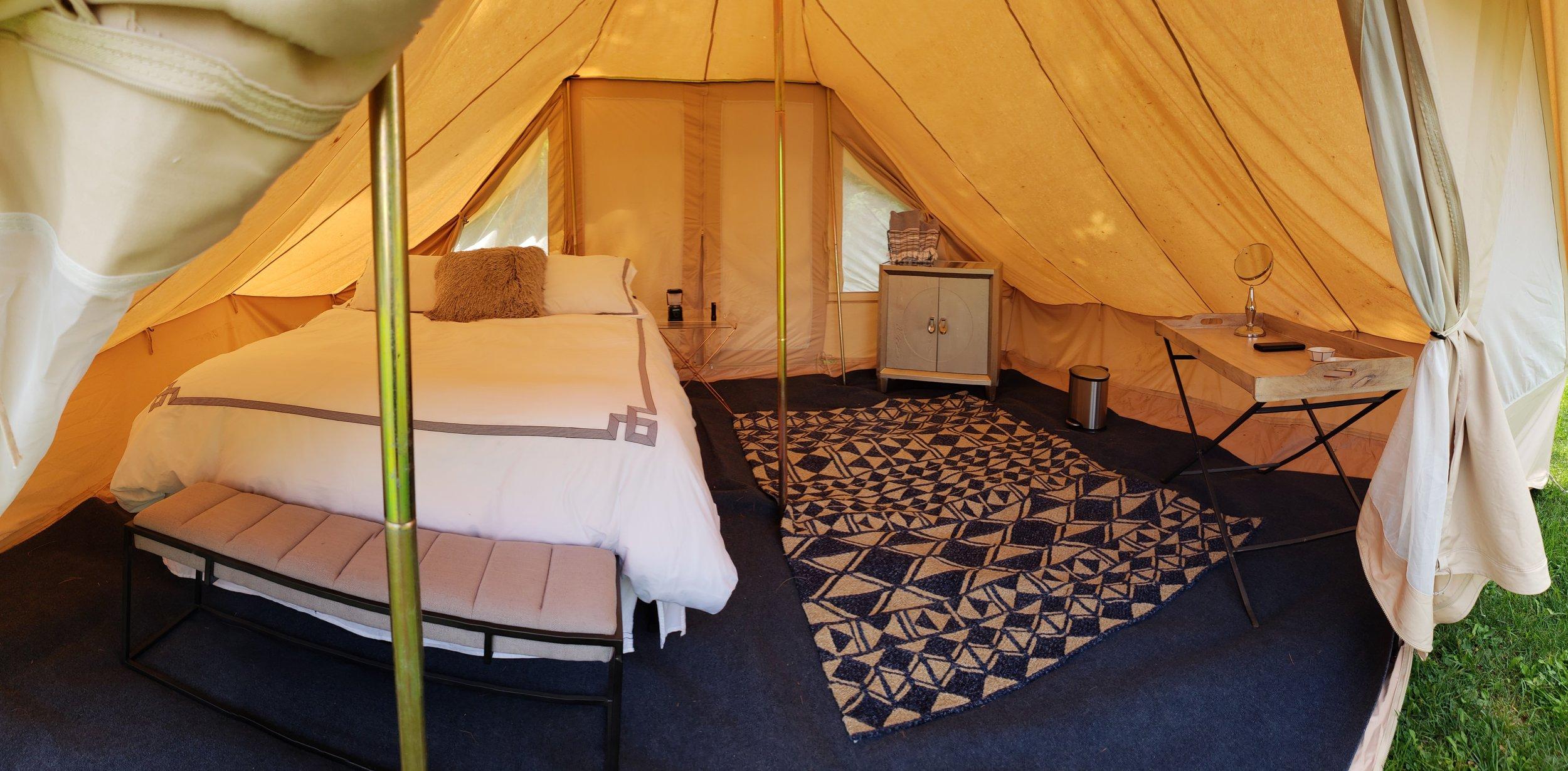 Terra Glamping Nomad Tent Interior
