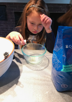 The kids had great questions about how just a little liquid could make their bath fizzies smell so lovely!