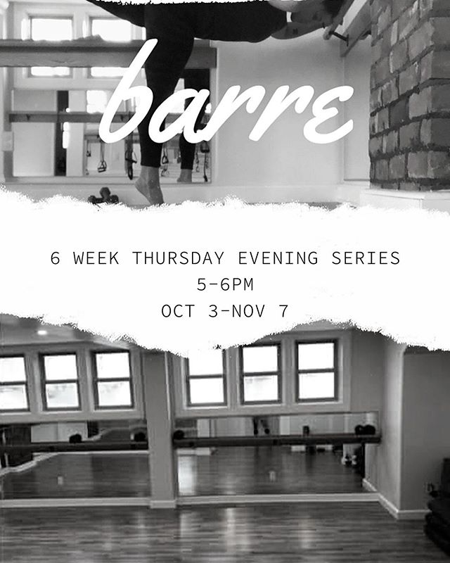 Barre Fitness is Back for another 6 weeks from October 3rd until November 7th.  Join Zosia on Thursday evenings from 5:00-6:00pm in the O Wellness Studio.  Designed to be accessible for every fitness level, Barre fitness classes help you to build strength and improve stability & postural alignment using using  your body weight & light resistance (bands, light dumbbells etc). But don't be fooled into thinking it's easy - you'll feel the burn!  #sweat #squeeze #lift #pulse #tone your way to a healthier you!  Register today, there are only 10 spots available. (email zosjarvis@gmail.com to register)