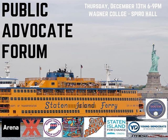 Please join us for the Public Advocate forum on Thursday 12/13.