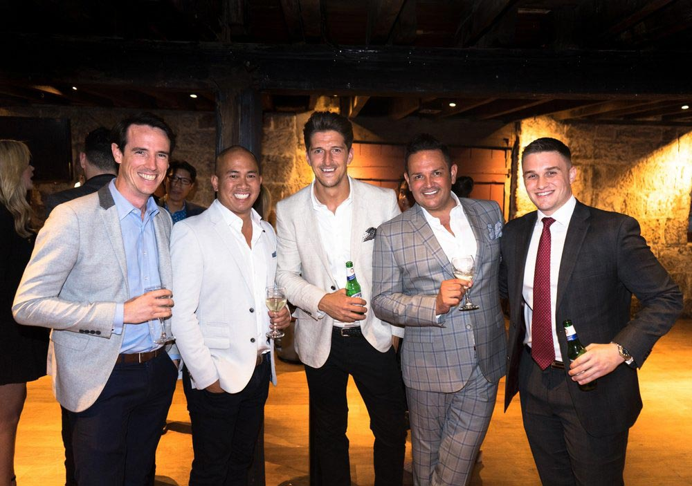Heath Delfos (Accor), Jason Fong (Luxury Escapes), Alex Griffiths (Luxury Escapes), Gordy Bayne (Luxury Escapes) and George Hudson (Sofitel Wentworth)