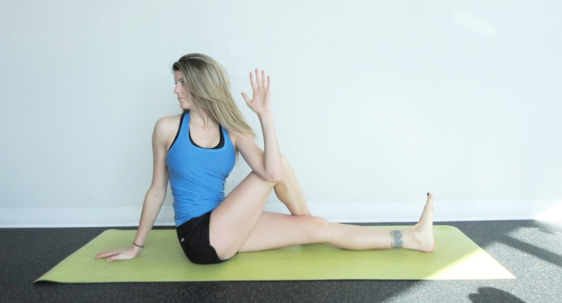Seated Twist Yoga Digestion