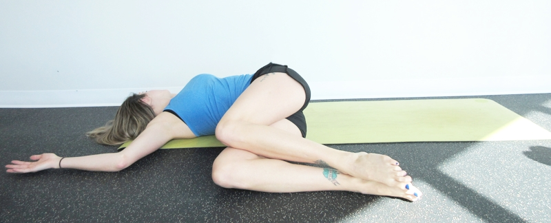 Supine Twist Yoga Digestion