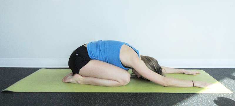 Child Pose Yoga Digestion
