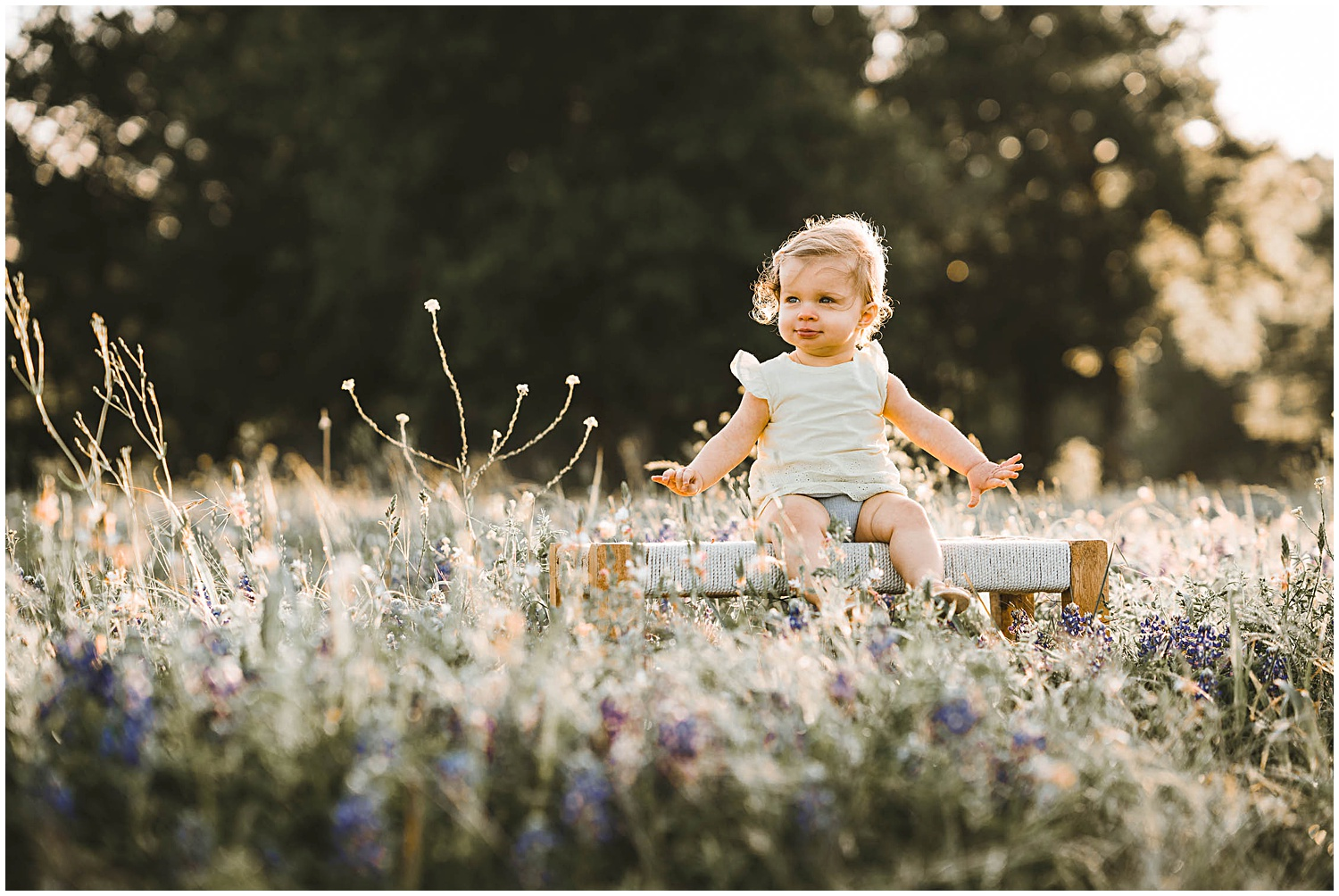 first birthday family photo session at Old Settlers Park