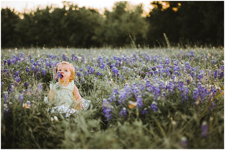 surnise bluebonnet family birthday session in Austin
