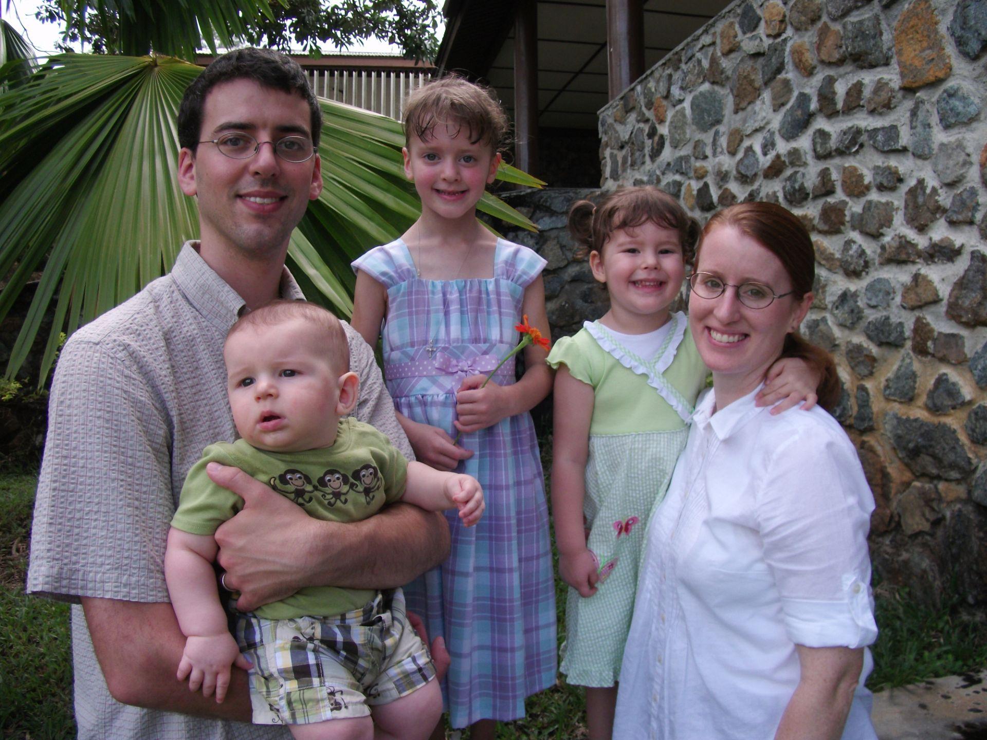 Sam, Linda and children - April 2011