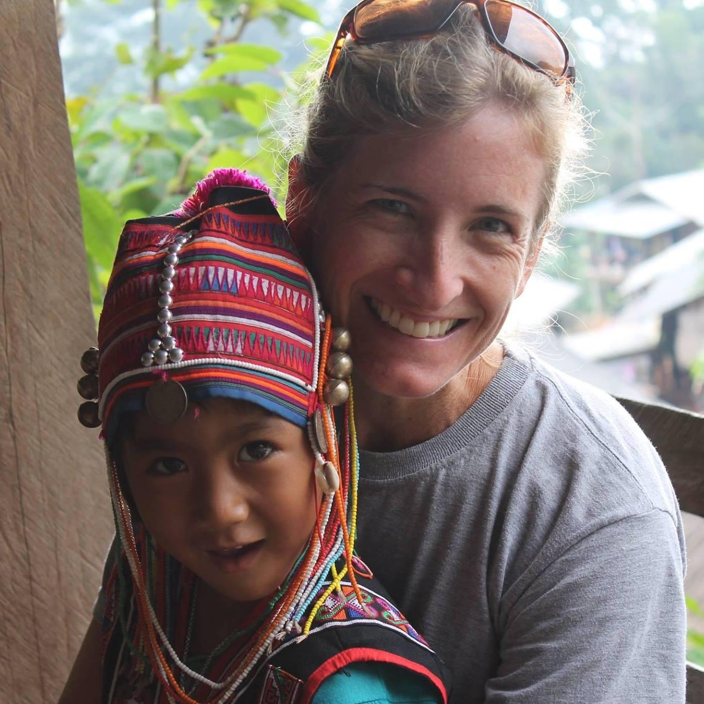 Rebecca and Thai girl - November 2015