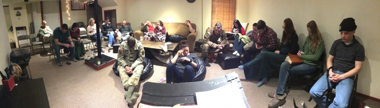Bible study and Prayer meeting with some of the soldiers
