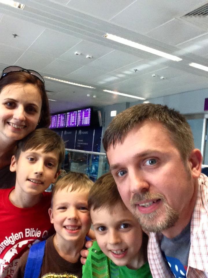 Sasha, Yulia and boys - July 2015