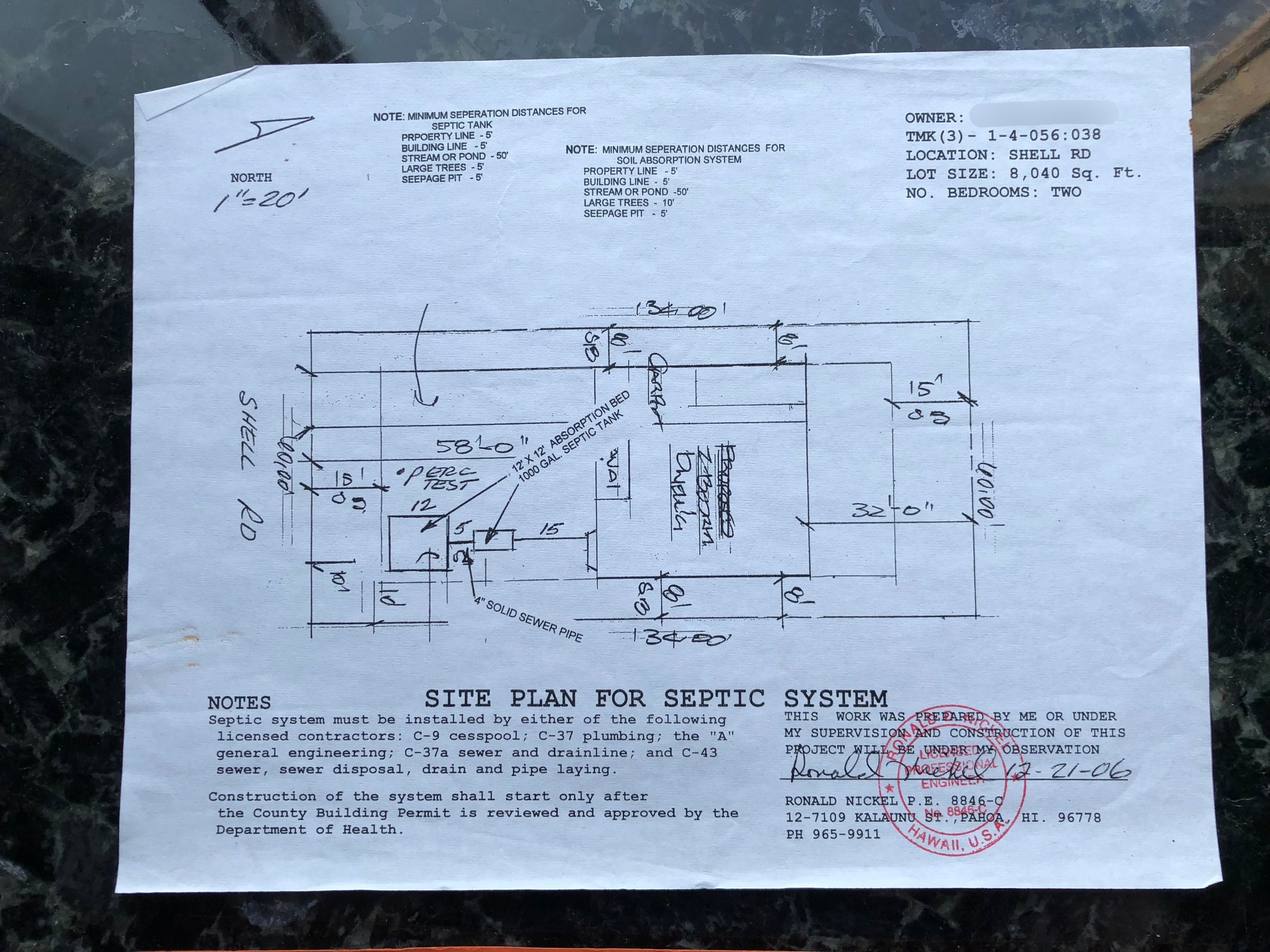LAND EQUITIES — 14-3422 SHELL RD  BEAUTIFUL HAND CLEARED LOT WITH HOUSE  PLANS & WATER METER, PAHOA, HI