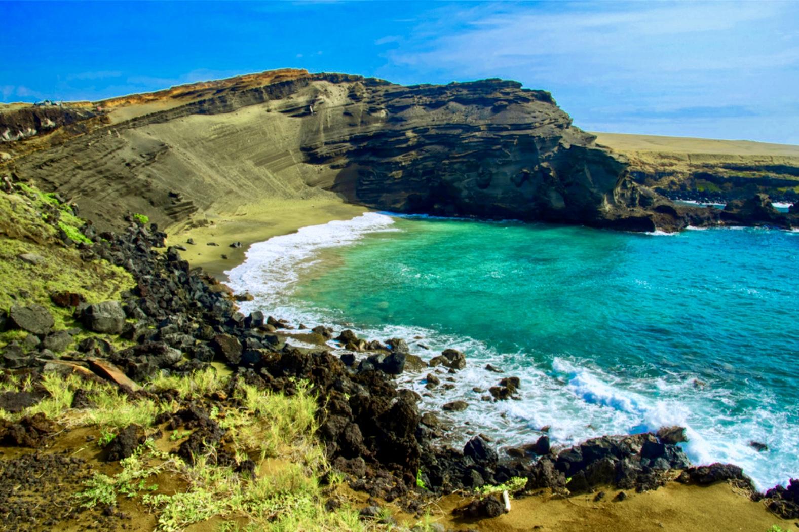 Beautiful Papakolea Green Sand Beach just a short hike away!