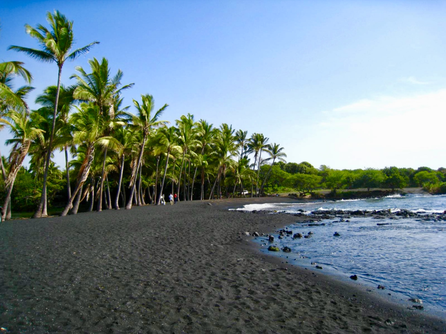 Beautiful Punalu'u Black Sand Beach