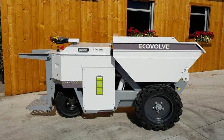 ECOVOLVE ED1500 Electric Dump Cart Side View