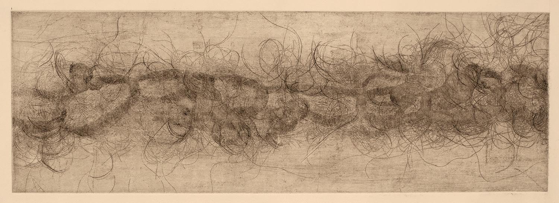 Bound I , 2016, soft ground etching, 23 x 53 cm