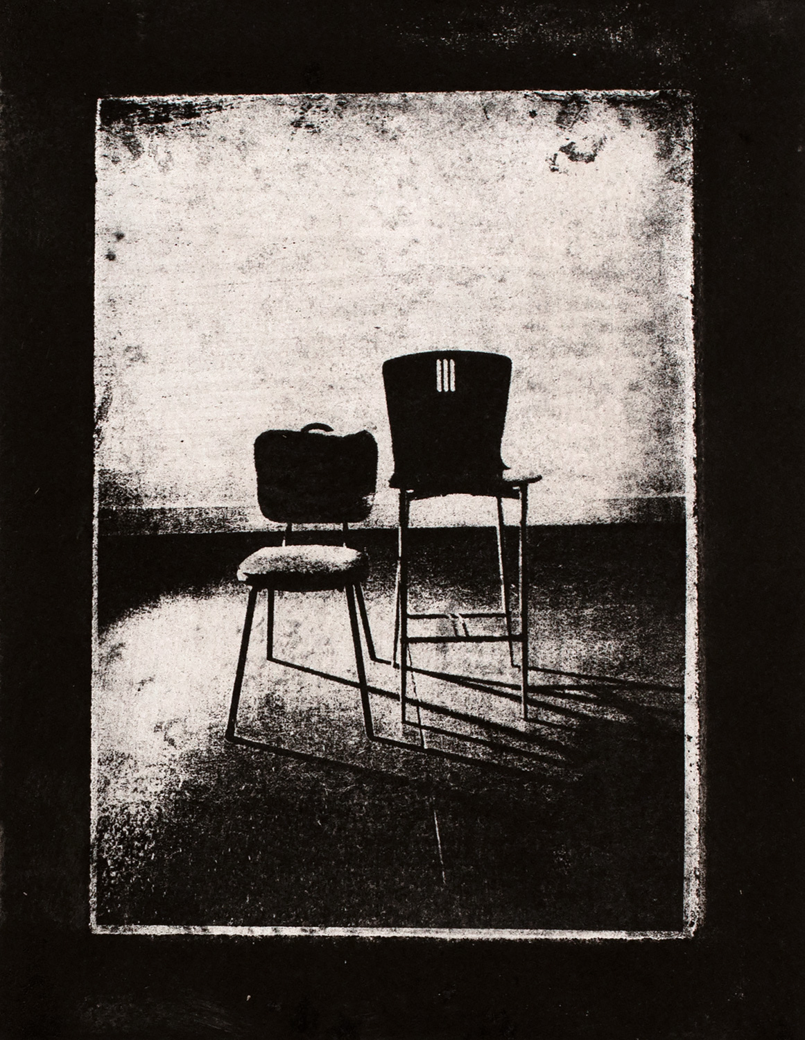 Chairs I , 2016, paper lithograph on Fabriano Artistico 300 gsm, 42 x 29.7 cm