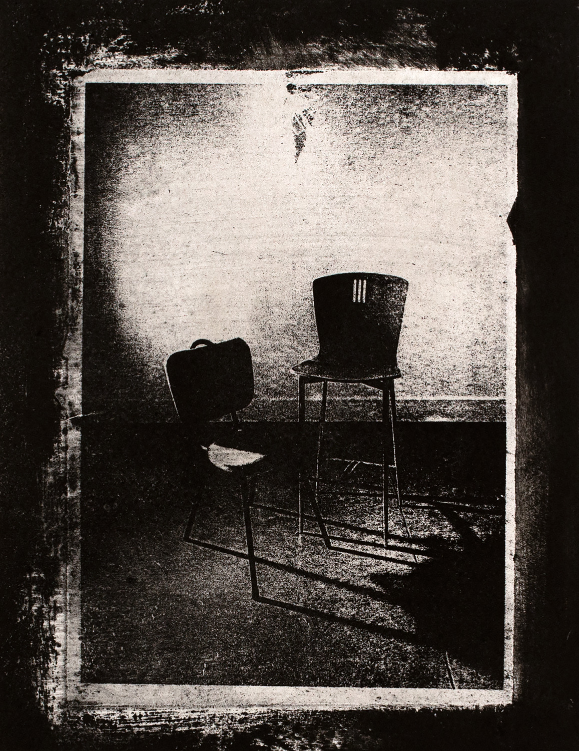 Chairs II , 2016, paper lithograph on Fabriano Artistico 300 gsm, 42 x 29.7 cm