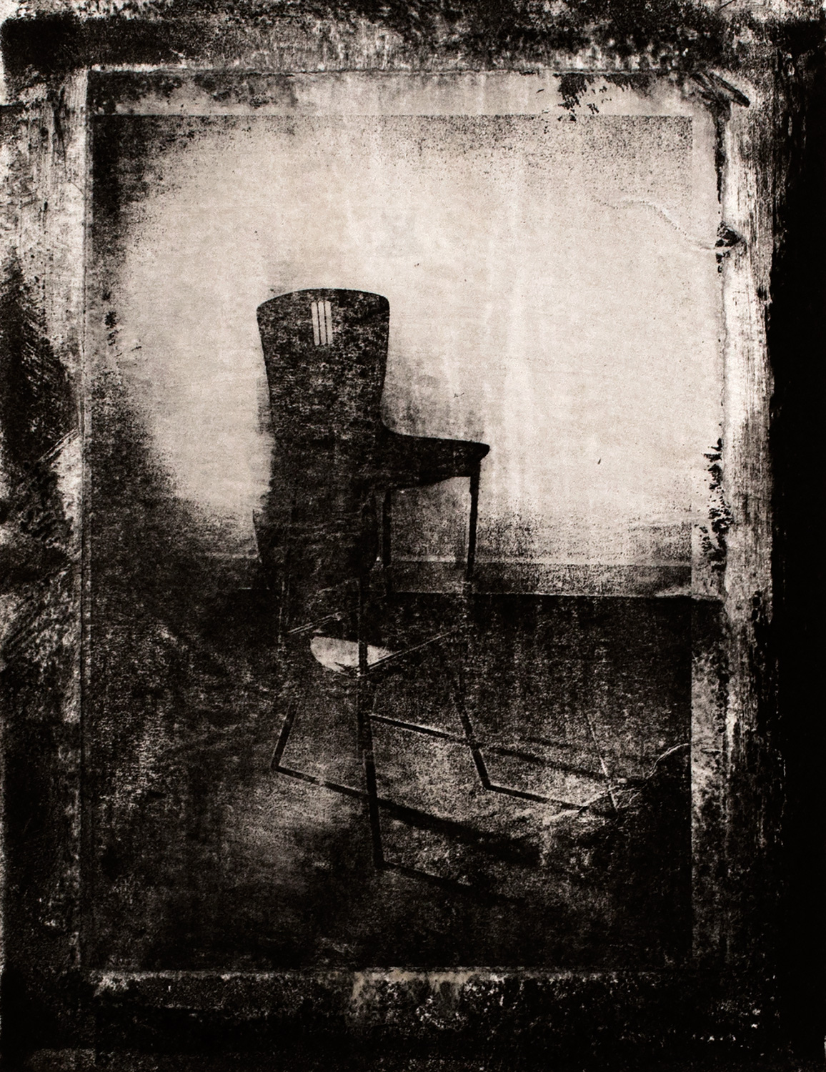 Chairs V , 2016, paper lithograph on Fabriano Artistico 300 gsm, 42 x 29.7 cm