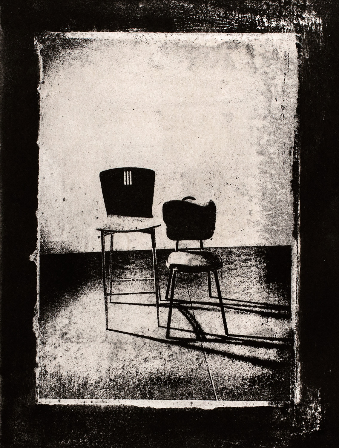 Chairs VII , 2016, paper lithograph on Fabriano Artistico 300 gsm, 42 x 29.7 cm