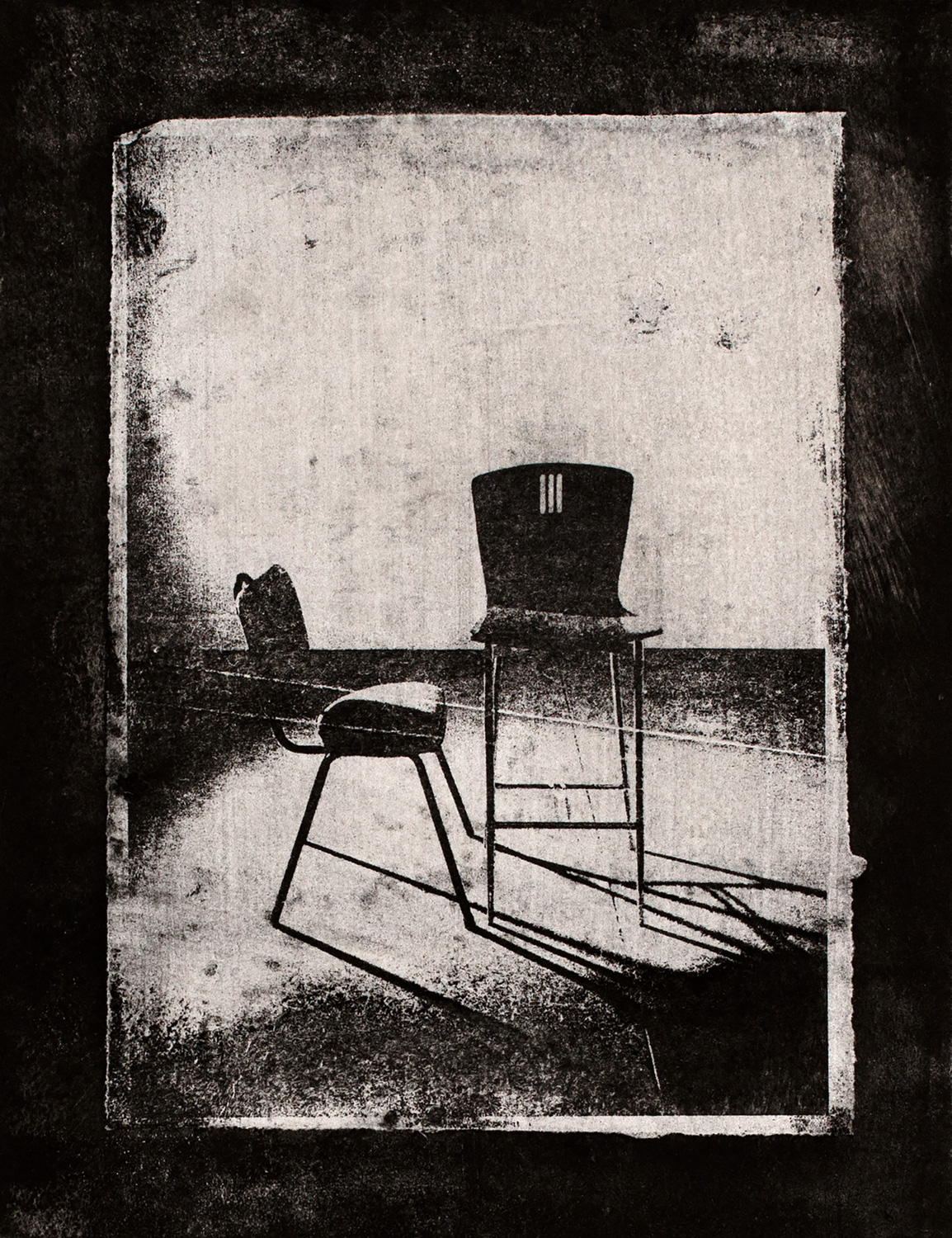 Chairs III , 2016, paper lithograph on Fabriano Artistico 300 gsm, 42 x 29.7 cm