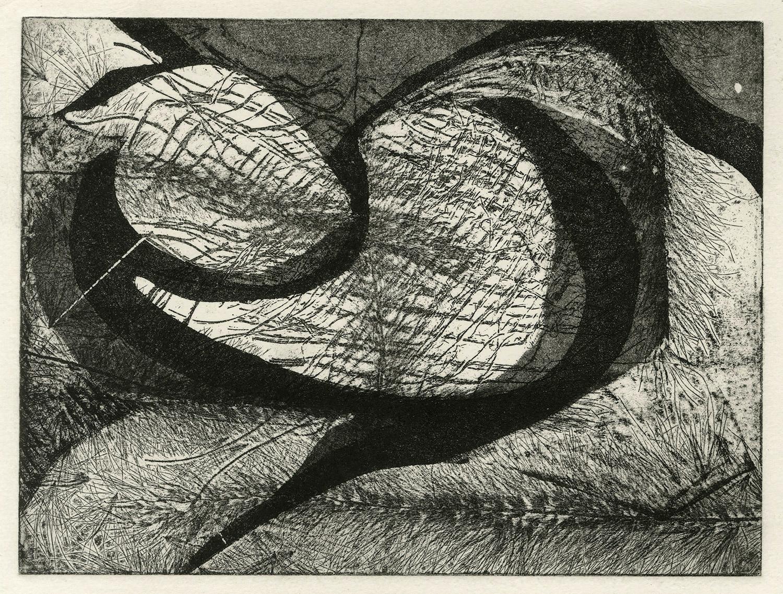 one plate  studio test III, 2015, zinc etching on Hanhnemuhle, 15 x 20 cm