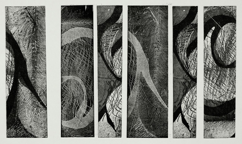 one plate  studio test IV, 2015, zinc etching on Hanhnemuhle, 21 x 29 cm