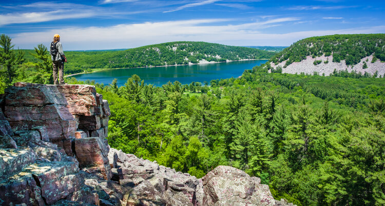 Devil's Lake State Park via bobber.discoverwisconsin.com
