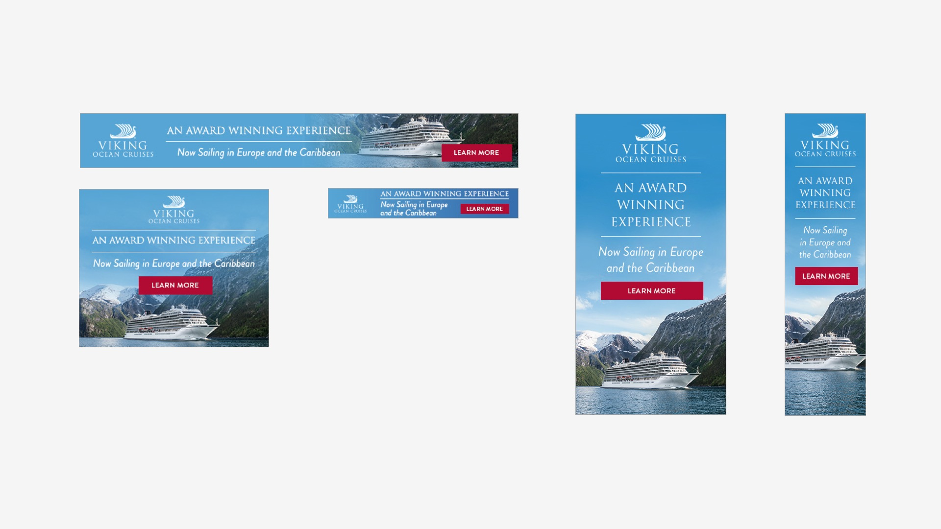 Viking Cruises: Oceans Awards Campaign Banners
