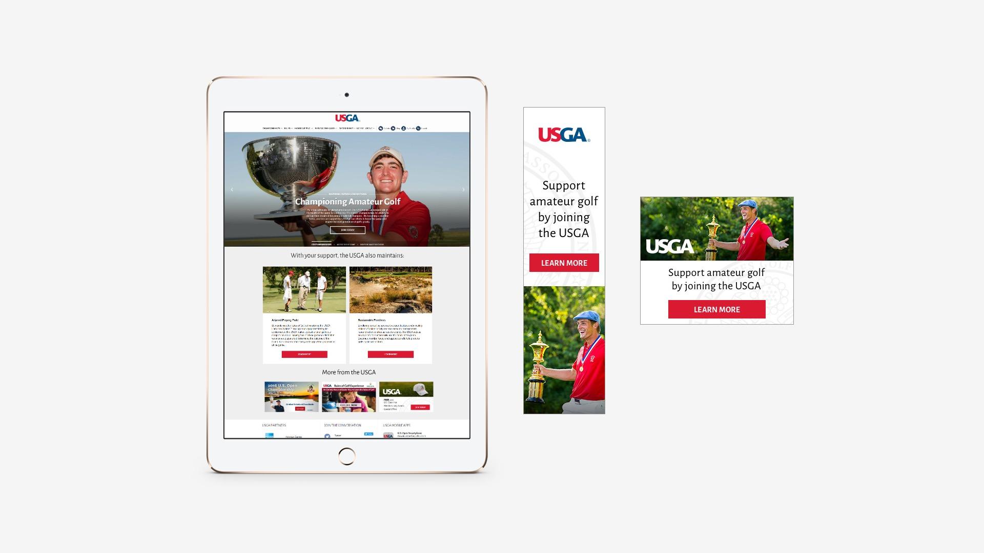 USGA: USGA's Pillars Campaign Banner Ad and Landing Page