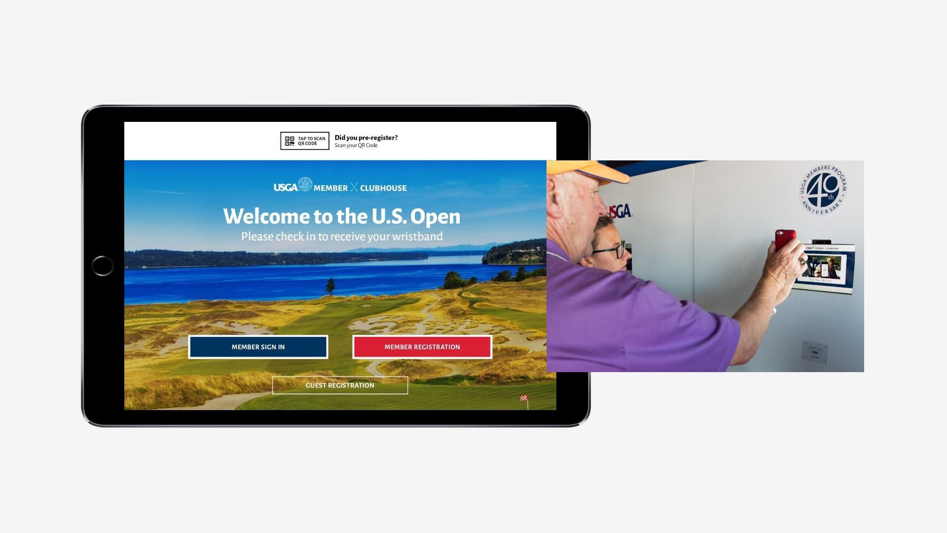 USGA: U.S. Open Member Kiosk App