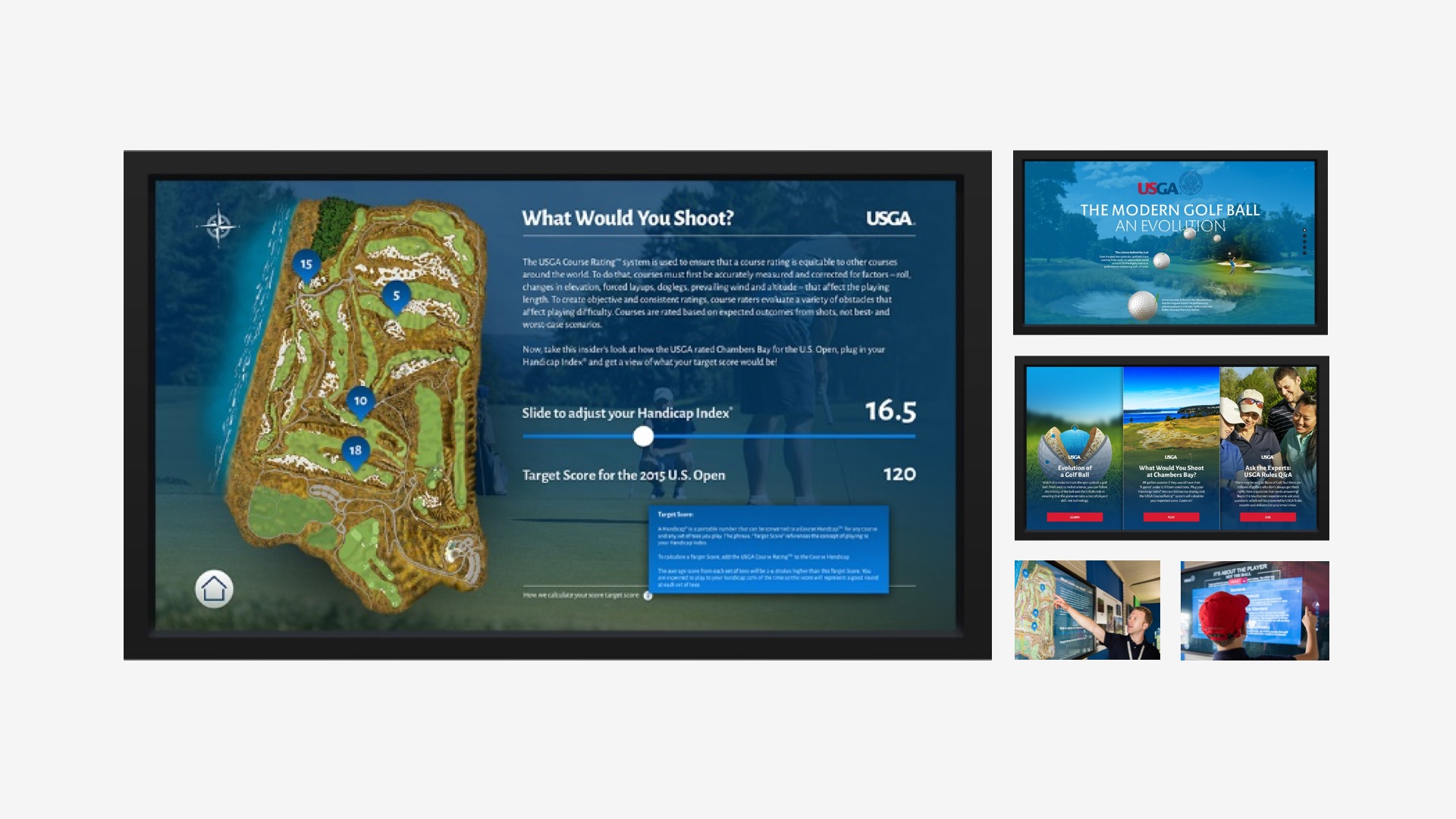 USGA: US Open Touch Screen Programs
