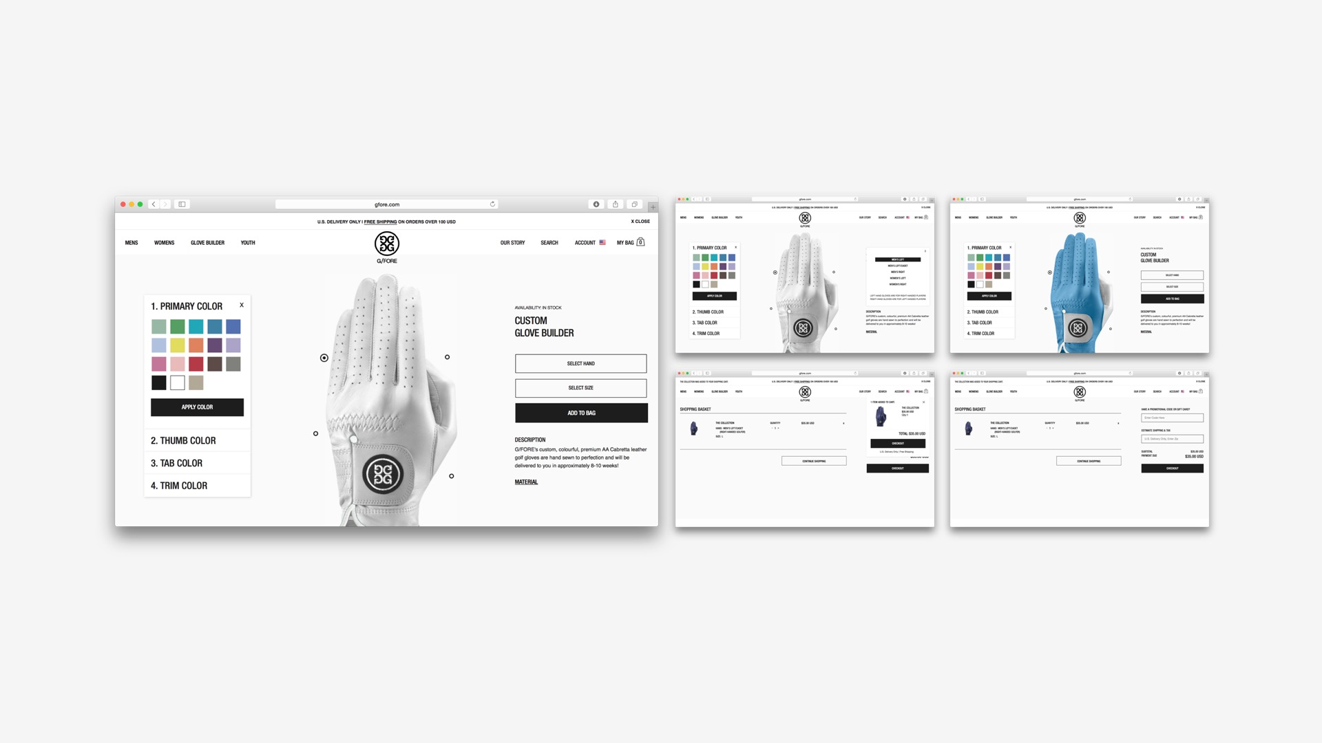 G/Fore: Magento Shopping Cart/Checkout Process