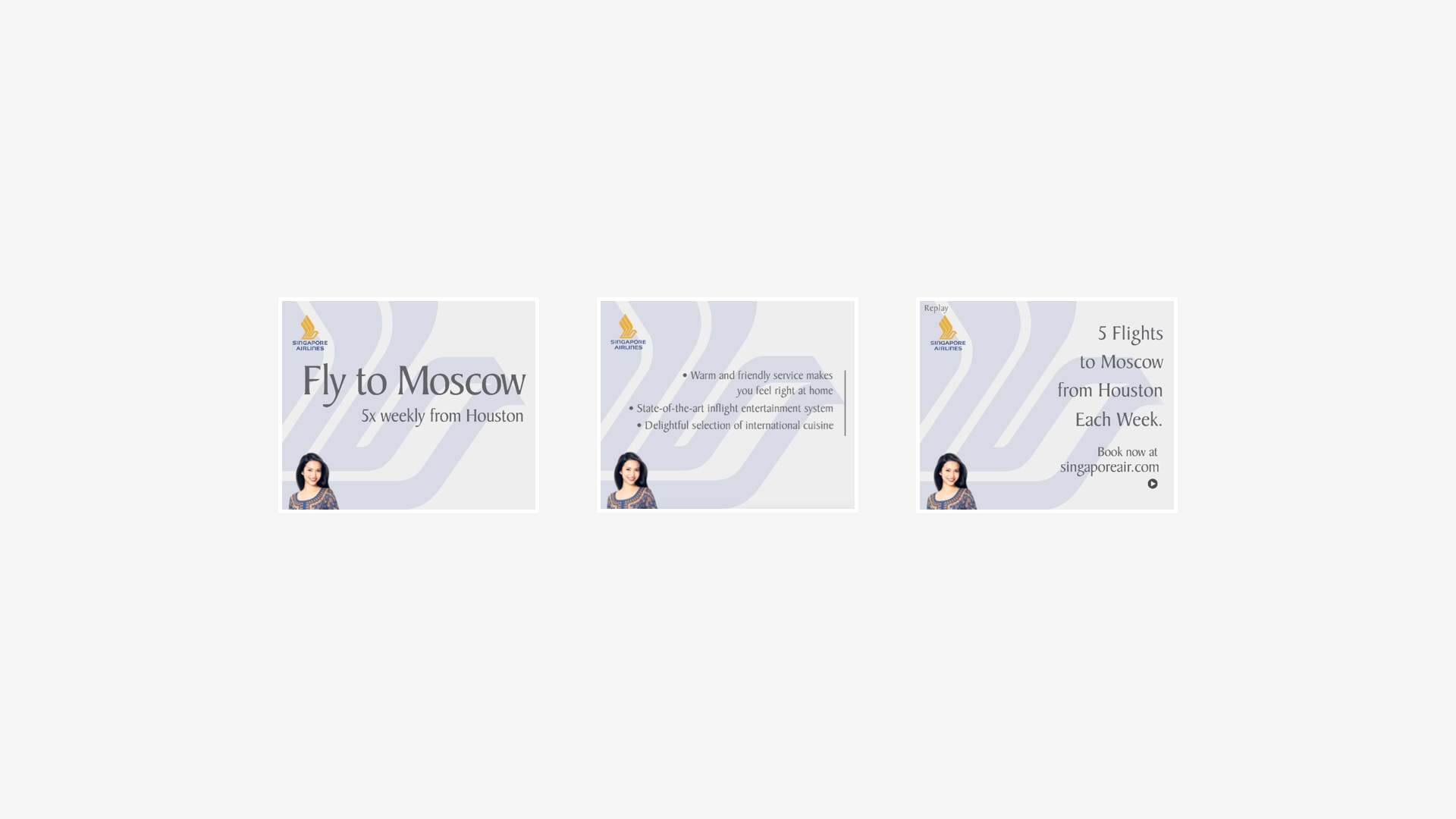 Singapore Airlines: Moscow Destination Campaign Banners