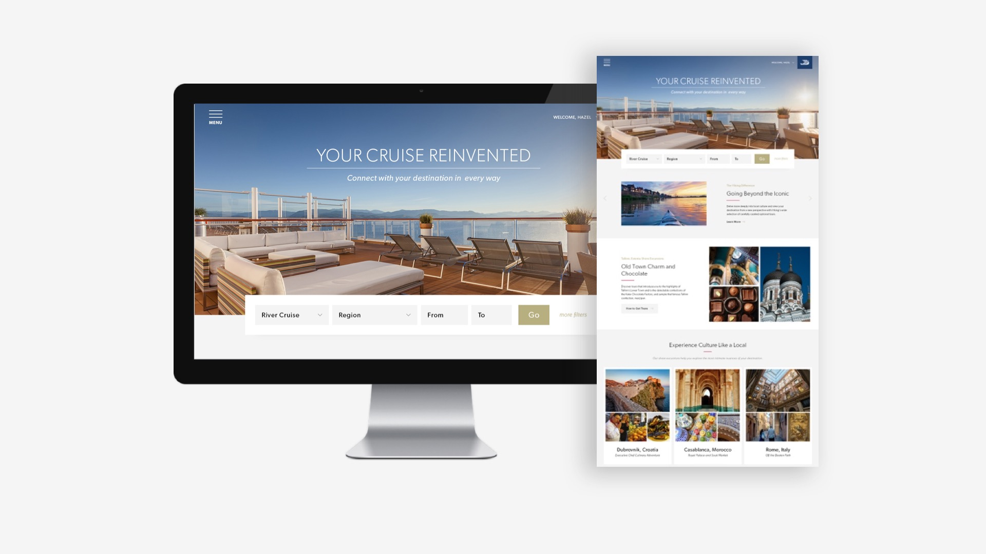 Viking Cruises: Home Page Design