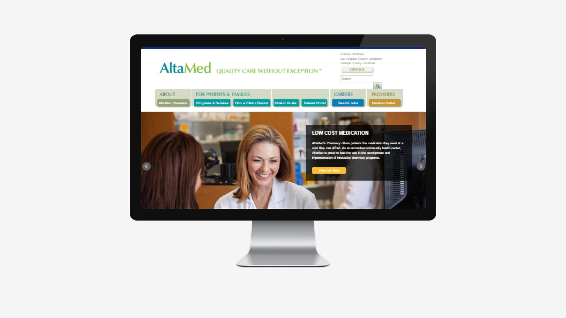 AltaMed: Campaign Landing Page Development