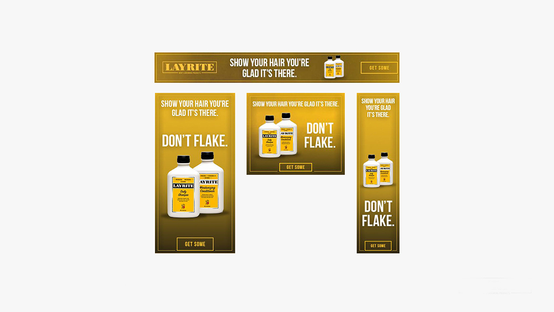 Layrite: Shampoo and Conditioner Banners